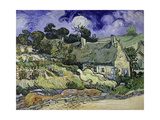 Thatched Cottages at Cordeville  Auvers-Sur-Oise  1890