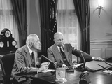 President Eisenhower Introduced Sec of State John Foster Dulles  Who Discussed the Suez Crisis