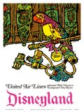 Disneyland - Walt Disney's Enchanted Tiki Room - United Air Lines Reproduction d'art par Jabavy