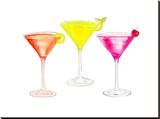 3 Cocktail Glasses