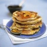 Blueberry Pancakes with Maple Syrup Papier Photo par Tara Fisher