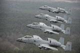 A-10 Thunderbolt Ii's Flying over Razorback Range  Arkansas