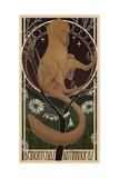 Deinonychus Antirrhopus Reconstructed in Art Nouveau Style