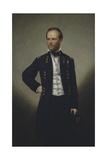 American History Painting of Civil War General William Sherman