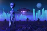 A Grey Alien Located on its Homeworld of Zeta Reticuli