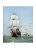 Vintage Print of Hms Victory of the Royal Navy