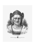 Vintage Print of Christopher Columbus