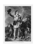 Print of Folk Hero and Frontiersman Davy Crockett