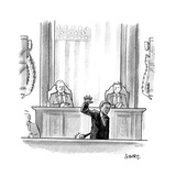 Obama Mic Drop - Cartoon