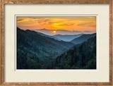 Gatlinburg Tn Great Smoky Mountains National Park Scenic Sunset Landscape
