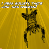Deadpool - Bullets Taste like Chicken Square