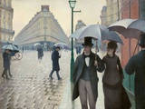 Paris Street in Rainy Weather (Paris  Rainy Day) by Gustave Caillebotte