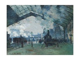 Arrival of the Normandy Train  Gare Saint-Lazare by Claude Monet