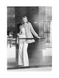 Model Wearing a Curly Fake-Lamb Coat by La Flaque De Paris