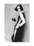 Model Wearing a Striped Two-Piece Dress by Rudi Gernreich
