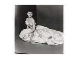 Audrey Hepburn  Age 22  Wearing Gown of Bianchini Silk Taffeta by Adrian