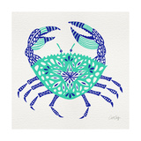 Crab in Turquoise and Navy