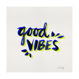 Good Vibes - Navy and Yellow Ink