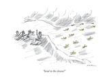 """Send in the clowns!"" - New Yorker Cartoon"