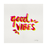 Good Vibes - Pink and Yellow Ink
