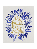 Future is Bright - Navy and Gold