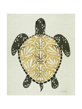 Sea Turtle in Black and Gold