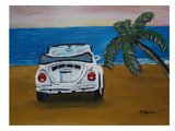 White Beachbug With Palm