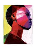 Black Woman 1 Reproduction d'art par Enrico Varrasso