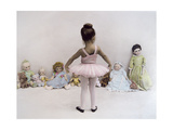 Little Ballerina in Pink with Dolls