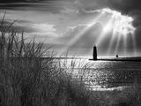 Frankfort Lighthouse and Sunbeams  Frankfort  Michigan '13