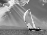 Sailing under sunbeams  L'Anse Bay  Michigan '13
