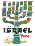 Israel - Fly TWA (Trans World Airlines) - Menorah