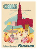 Chile - Plaza de Armas - Santiago - PANAGRA (Pan American Grace Airways)