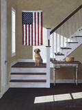 Dog on Stairs