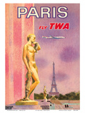 Paris  France - Fly TWA (Trans World Airlines)