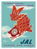 Discover Japan - Fly Japan Air Lines (JAL) - Japanese Koinobori (Carp Streamer)