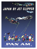 Japan by Jet Clipper - Pan American World Airways - Children's Day - Koinobori