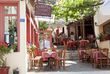 Cafe, Restaurant, Taverna, Plaka, Athens, Greece Papier Photo par Peter Adams