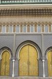 Fez  Morocco Royal Palace Famous Golden Doors Arches Der El Makhzen