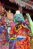 Masked Dancers at Wachuk Tibetan Buddhist Monastery  Sichuan  China
