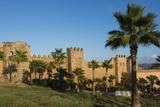 Rabat Morocco Beautiful Kasbah Udaya at Sunset with Palm Trees