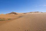 Morocco  Sahara Desert Sand Dunes in las Palmeras with Peaks and Sand