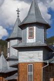 Romania  Rodna Mountains NP  Sesuri  Ski Resort  Town Orthodox Church