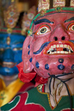 Masked Dancers at Tibetan Buddhist Monastery  Xinglong  Sichuan  China