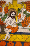 Romania  Transylvania  Sibiel  Glass Icon of Jesus Christ
