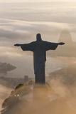 Art Deco Statue of Jesus On Corcovado Mountain  Rio de Janeiro  Brazil
