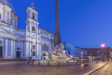 Italy  Rome  Piazza Navona and Sant'Agnese in Agone Church at Dawn
