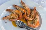 Portugal, Porto, Shrimp with Garlic and Butter Papier Photo par Jim Engelbrecht