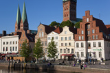 Old Town by River Trave at Lubeck  Schleswig-Holstein  Germany