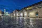 Croatia  Dalmatia  Hvar  St Stephen's Square at Dawn